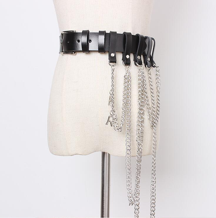 Women's Runway Fashion Genuine Leather Tassel Punk Cummerbunds Female  Dress Corsets Waistband Belts Decoration Wide Belt R2169
