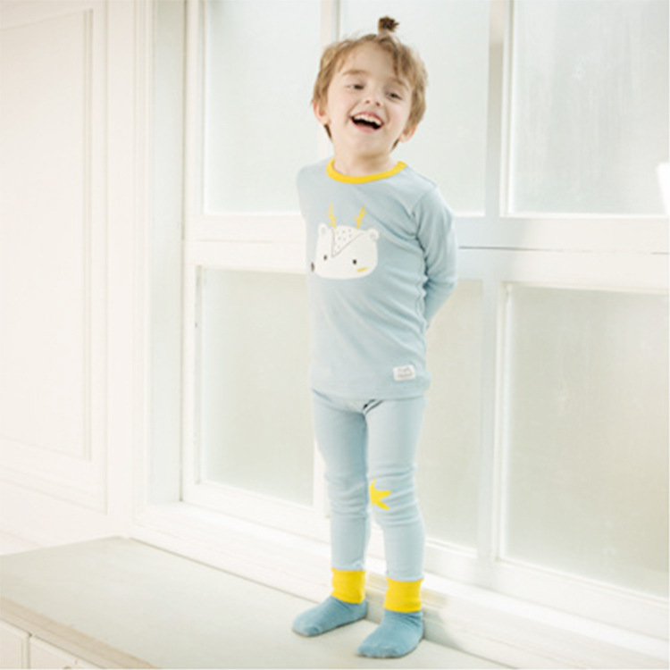 South Korea Genuine Product Cogibee Spring And Autumn New Style Men And Women Children Home Wear Thermal Underwear