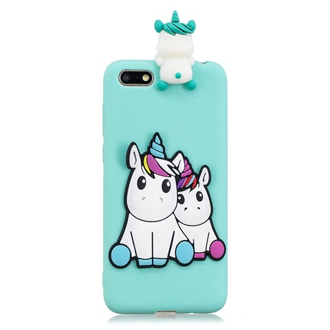 Huawei Y5 2018 Case on for Coque Huawei Y 5 Y5 prime 2018 Y5 Lite Y5 2019 Cover Cartoon 3D Doll Toys Candy Soft Silicone Cases Lahore