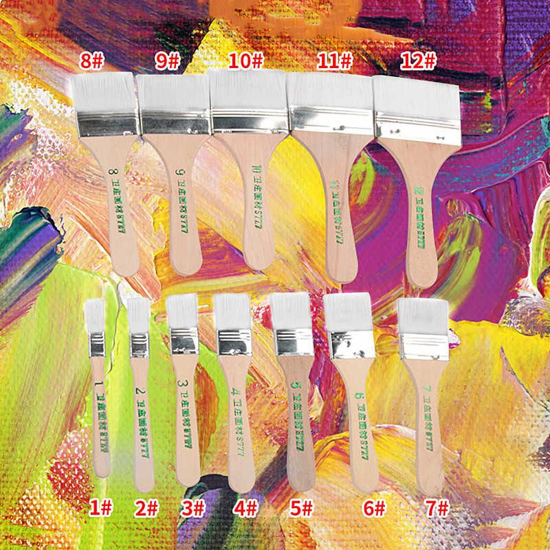 לא לשפוך שיער ציור ניילון מברשת שמן צבעי מים מים אבקת פרופילן אקריליק 12 גדלים צבע מברשות אמנות ציור אספקה