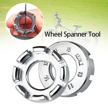 Durable Portable Bicycle Spoke Nipple Wrench 8 Way Groove Bike Wheel Rim Adjuster Spanner Galvanized Repair Service Tool Key цена 2017