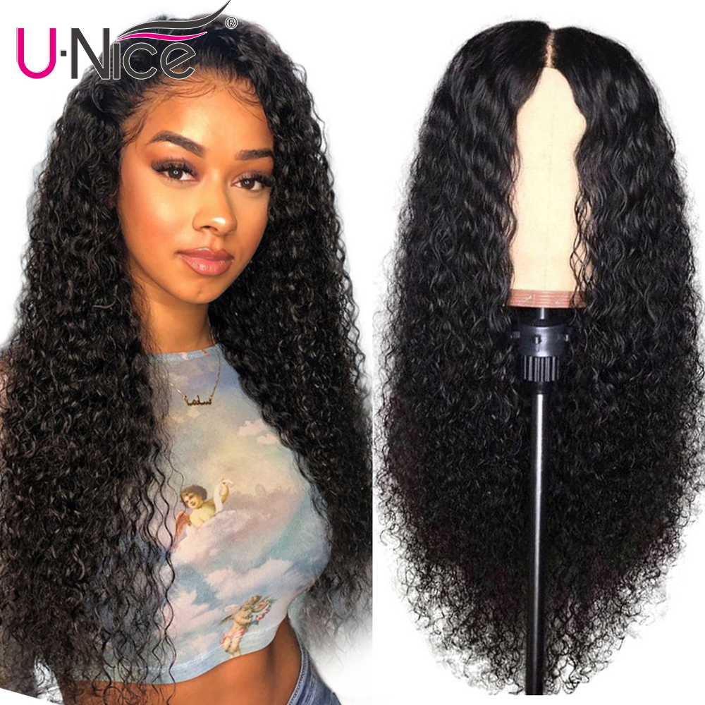 Unice Hair 13*4/6 Transparent Lace Front Human Hair Wigs Pre Plucked With Baby Hair Curly Lace Front Wigs For Black Women