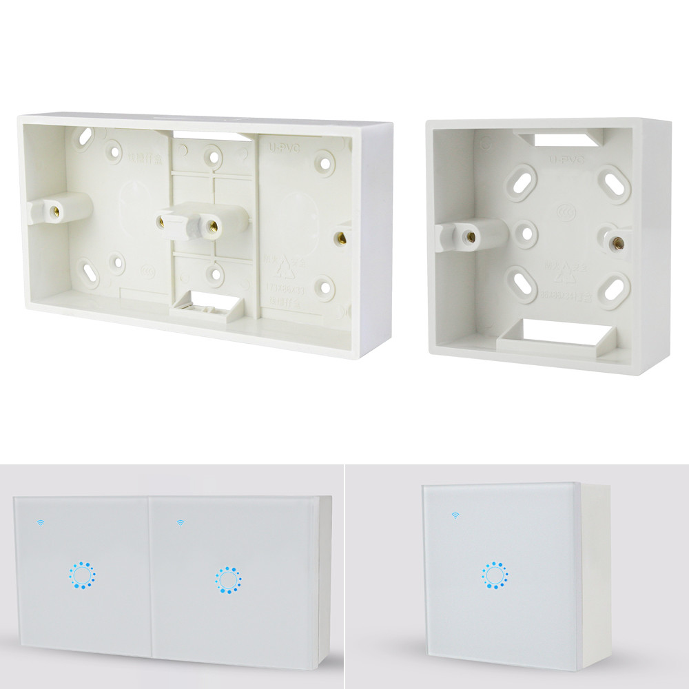 External Mounting Box 86mm*86mm*33mm 172*86*33mm Outside Wall Switches Sockets Box White External Cassette For Any Position