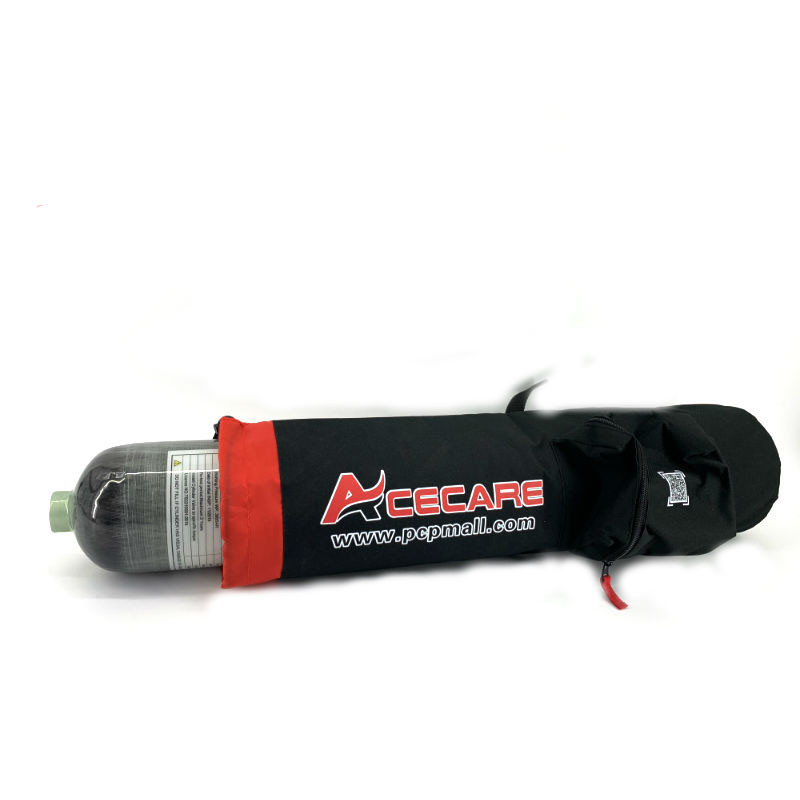 Acecare 6.8L Hpa Diving Cylinder With Bags High Pressure Carbon Fiber Tank Hot Sale Convenience To Carry Bottle Bags Paintball