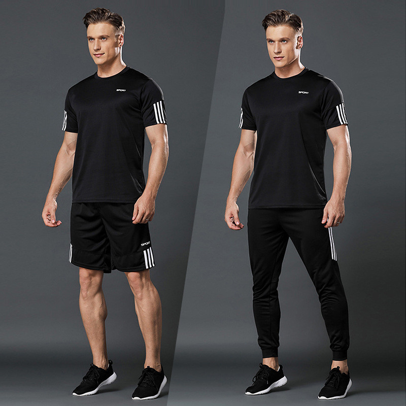 cheapest High quality loose men s sportswear quick dry running clothes new brand sports running training gym fitness jogging sportswear
