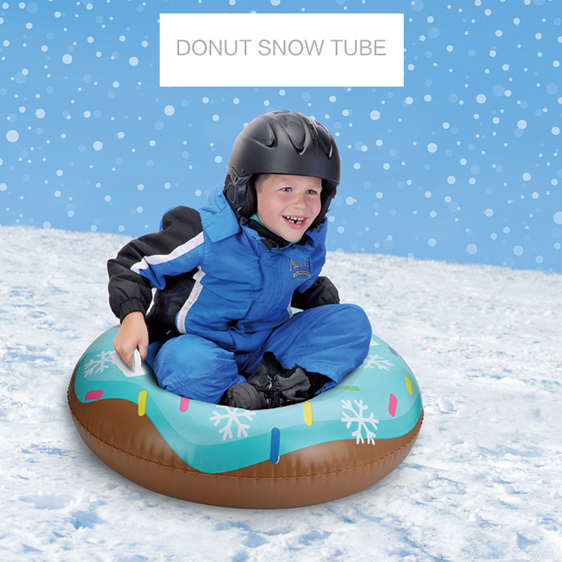Skiing Boards Kids Donut Snow Tube Sled Winter Outdoor Sports Heavy Duty With Handle Snow Tyre Grass Sand Ski Board Snowboard