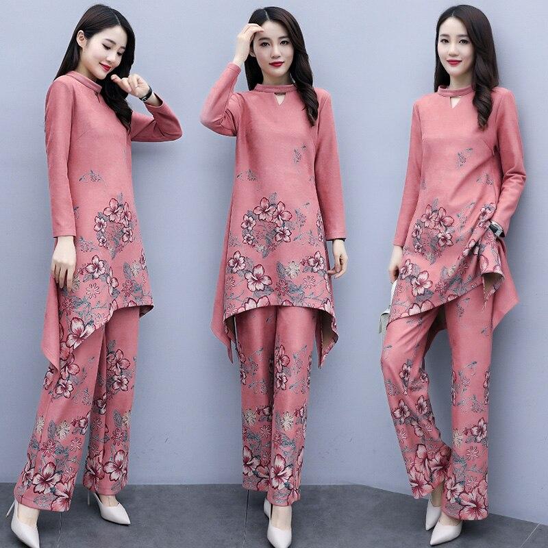 2020 ao dai set cheongsam folk style vietnam chiffon aodai graceful stand collar elegant women floral print improved cheongsam