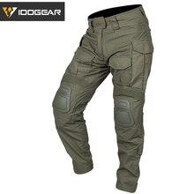 IDOGEAR G3 боевые штаны с наколенниками страйкбол военные тактические брюки CP Gen3 Диапазон зеленый CT хлопок полиэфир
