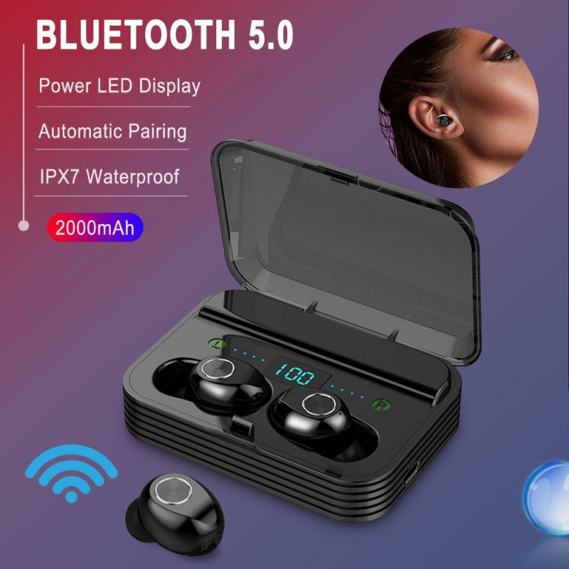 F9 9D Sport Wireless Bluetooth Earphone Earbuds Bluetooth Gaming Headset Noise Reduction Headphone With <font><b>2000mAh</b></font> Charging Box image
