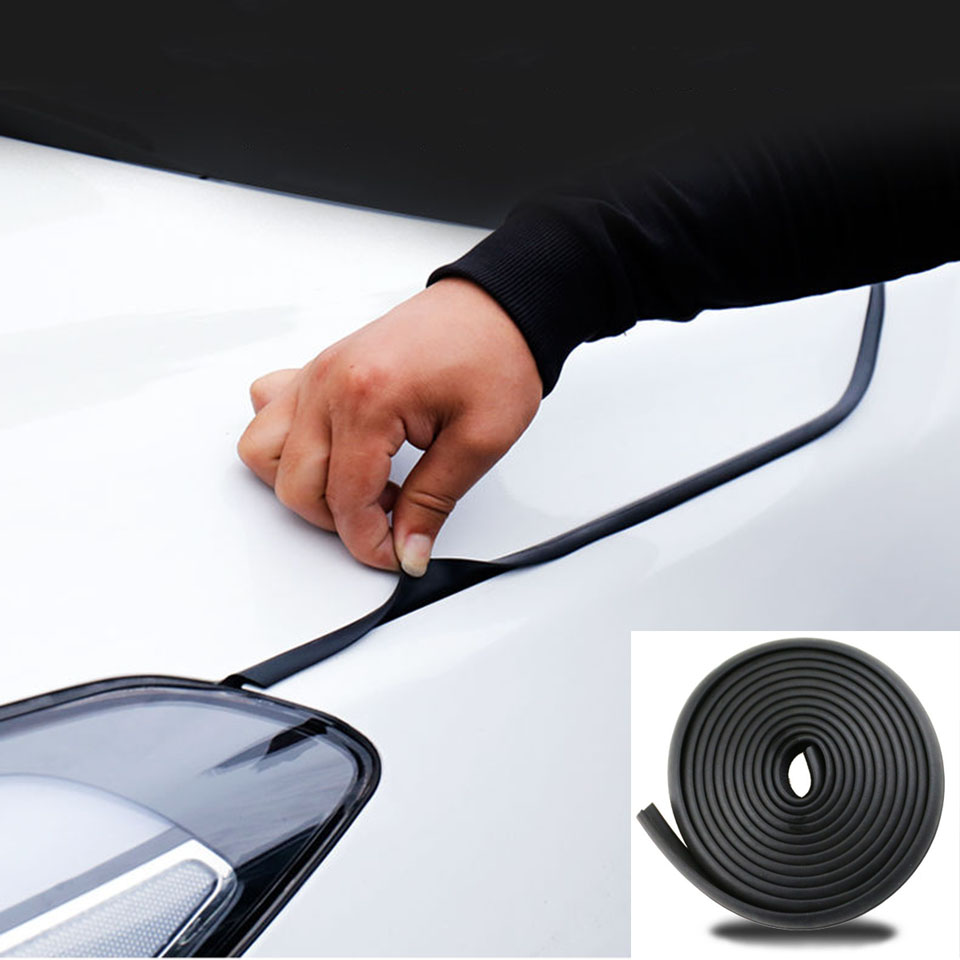 2-4m Car Hood Seal Strip Z Type Weatherstrip Sealing Rubber Strip Trim Auto Rubber Seals  Sound Insulation Seals