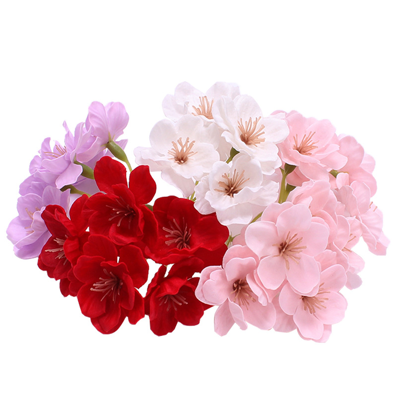 10pcs Artificial Flower Cherry Blossom Handmade Soap Flower With Hand Gift Box Decoration Christmas Gift Bouquet