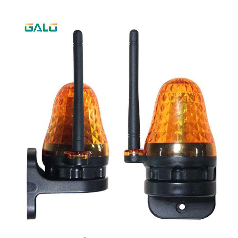 Universal 12V 220V Outdoor LED Signal Alarm Light Strobe Flashing Emergency Warning Lamp Wall Mount For Automatic Gate Opener