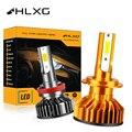 Лампа светодиодная для автомобильных фар HLXG, 12 В, H4, H7, 9005, HB3, 9006, HB4, H8, H11