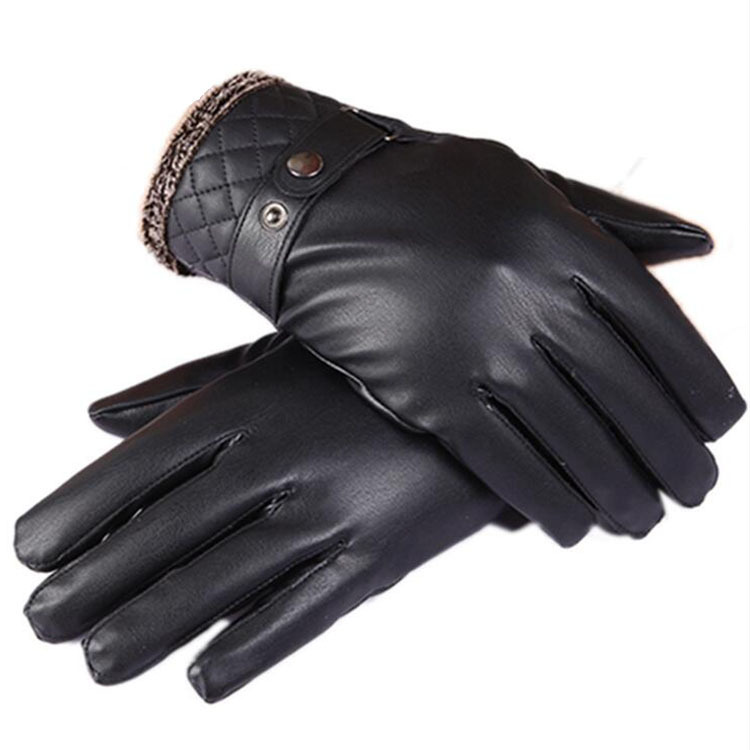2017 Winter Hot Selling Men's Washed Leather Touch Gloves Fashion Business Gloves Autumn And Winter Plus Velvet Warm Cold Gloves