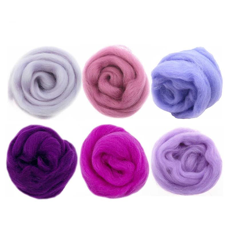 Light Blue Spinning Wool Roving for Needle Felting Fiber Roving Wool Colorful Wool Roving DIY Hand Spinning 50g Wool Roving Yarn Wet Felting Needle Felting Craft