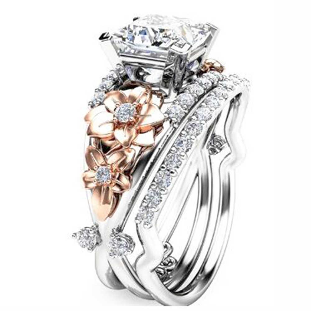 925 סטרלינג Zilveren טבעת Vergulde AAA Zirkoon Aristocratische Elegante Mannen En Vrouwen Verlovingsring Sieraden Cadeau