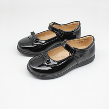 Girls School Shoes New Kids Formal Party Evening Black Back