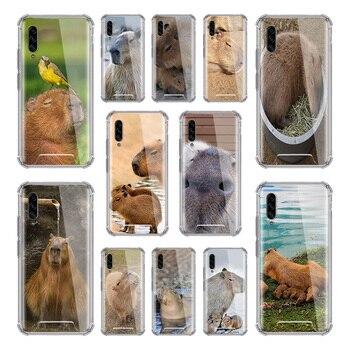 Carpincho Animal caso para Samsung Galaxy A50 A70 A70s A50s A40 A30 A20e A20s A10s A10 Airbag Antil cubiertas del teléfono