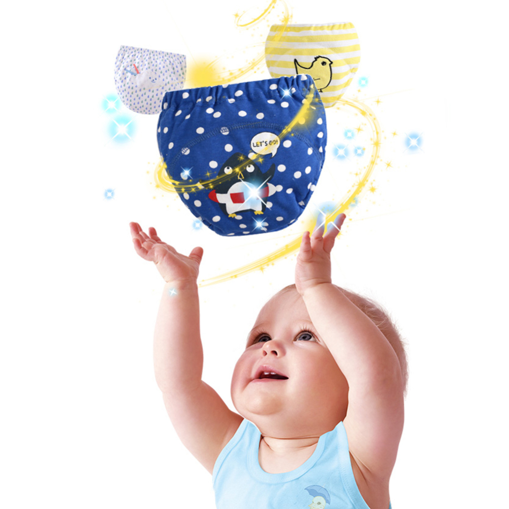 Thick Waterproof Baby Cloth Diapers Toilet Training Pants Boy Shorts Underwear Girl Nappies Panties