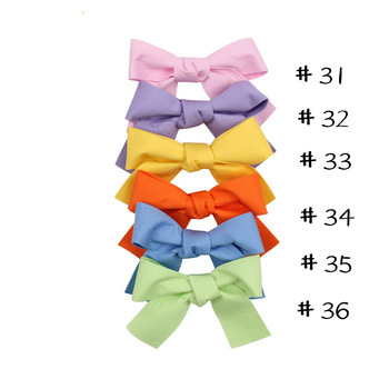 50 pcs/lot,3'' Fashion Plaid Hair Bows For Girls Women New Classical Dots Tied Sailor Bow Barerres Hair Clip Kids Accessories image