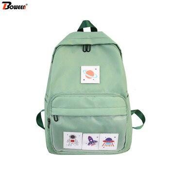 цена Preppy Style Junior High School Bags for Girls Teenage Student Women Backpack School Fresh Campus female Bookbags Teen онлайн в 2017 году
