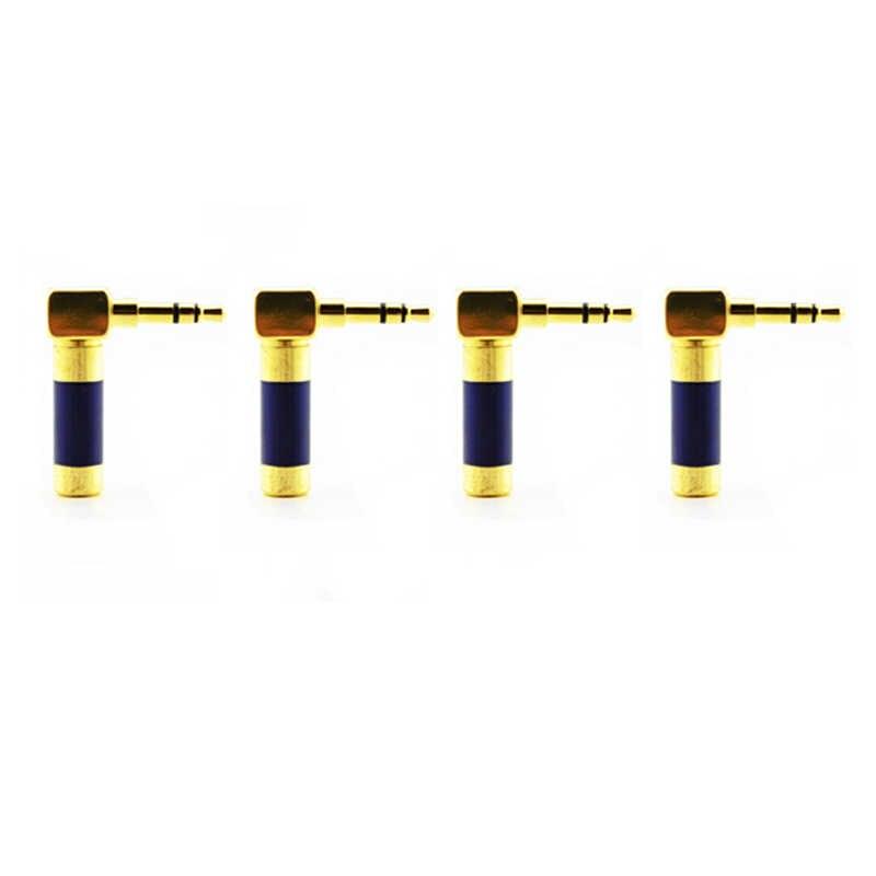 4 шт. hifi аудио 90 градусов L форма мини штекер 3,5 мм P-3.5 G Мужской стерео phono адаптер