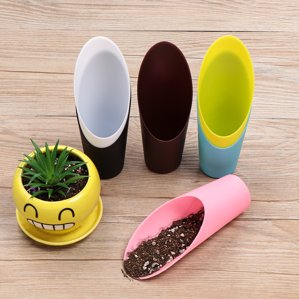 1PC Plastic Soil Shovel Gardening Cultivation Bucket Potted Bonsai Plastic Cup Spade Garden Tools New Colorful Garden Supplies
