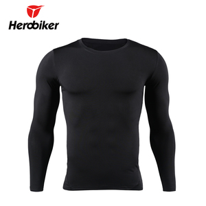 Image 2 - HEROBIKER Motorcycle Thermal Underwear Set Mens Motorcycle Skiing Winter Warm Base Layers Tight Long Johns Tops & Pants Set