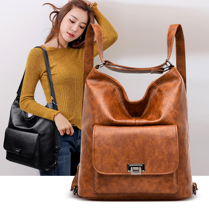 2019 Multifunction Women Handbags Female Shoulder Bags Big For Ladies Luxury Brand Travel PU Leather Large Casual Totes Back Bag