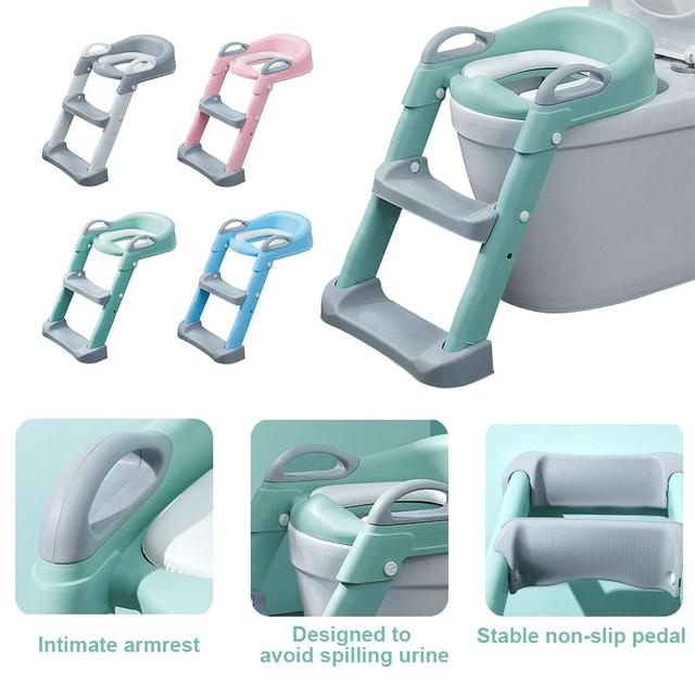 Mga resulta ng larawan para sa Folding Infant Potty Seat Urinal Backrest Training Chair with Step Stool Ladder for Baby Toddlers Boys Girls Safe Toilet Potties