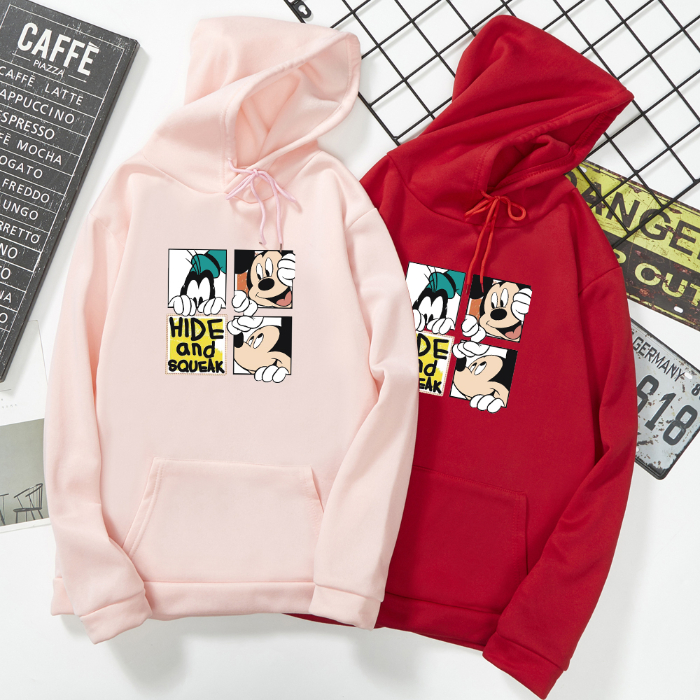 Women Sweatshirt And Hoody Ladies Hooded Love Printed Casual Pullovers Girls Long Sleeve Spring And Autumn Plus Size