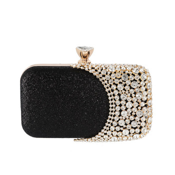 Tanpell Sequin Rectangle Box Evening Bag Versatile Rhinestone Glitter Clutch Bags Party Wedding Fashion Luxury Evening Bag цена 2017