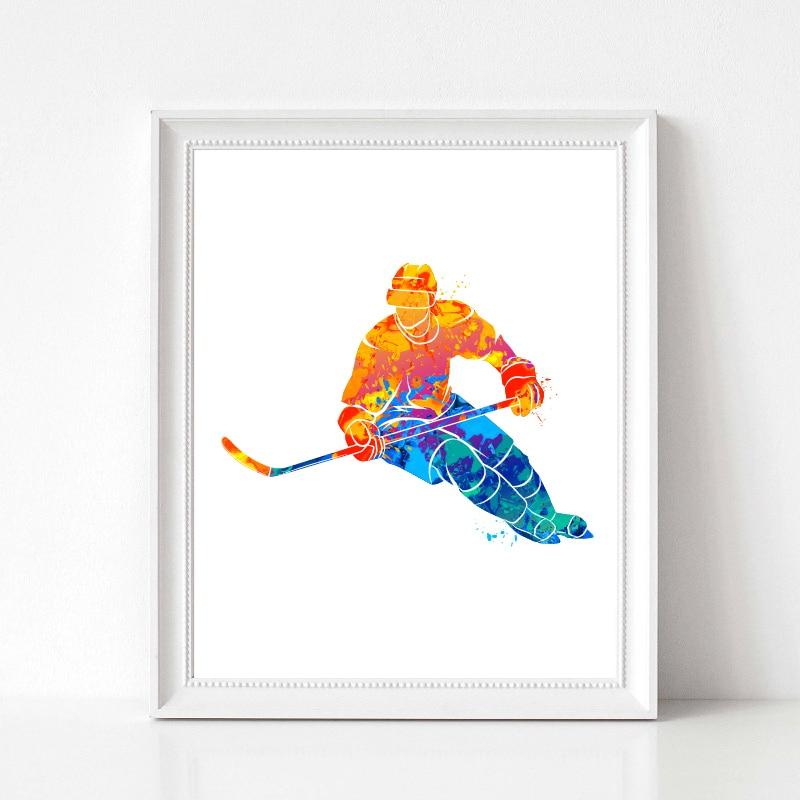 Hockey Player Poster Prints Home Decor
