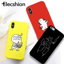 For iPhone XS XS Max Soft Silicon Phone Case For iPhoneX 7 8 Plus Shockproof Funny Cellphone Cover For iPhone 5 6 6s SE TPU Case(China)