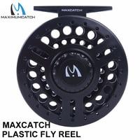 Maximumcatch 5/6/7/8WT يطير بكرة أسود عالية الكثافة البلاستيك مكبح قرصي system Fly الصيد بكرة-في بكرات الصيد من الرياضة والترفيه على