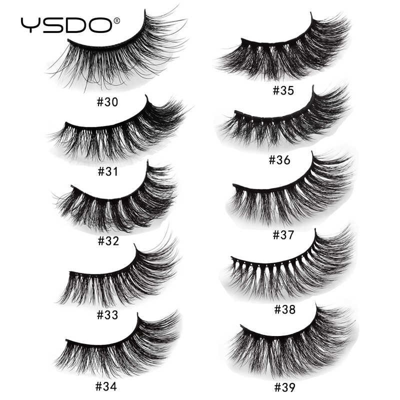 YSDO 1 paar nerz wimpern wimpern maquillaje dramatische wimpern natürliche falsche wimpern volumen 3d nerz wimpern make-up faux cils