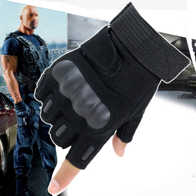 Купить с кэшбэком Outdoor Tactical Half Finger Gloves Men's Combat Mitts Sports Riding Gloves Cycling Sportswear Accessories Tools
