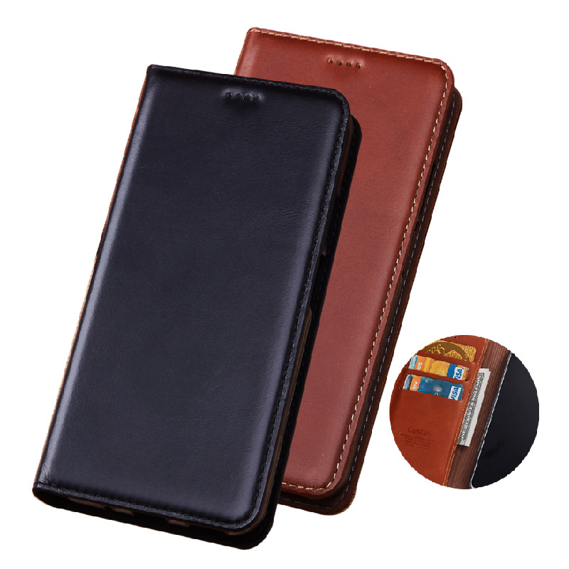 Genuine Leather Wallet Holster Card Phone Case For Nokia 5.4/Nokia 5.3/Nokia 5.1 Plus/Nokia 5.1/Nokia 5 Flip Cases