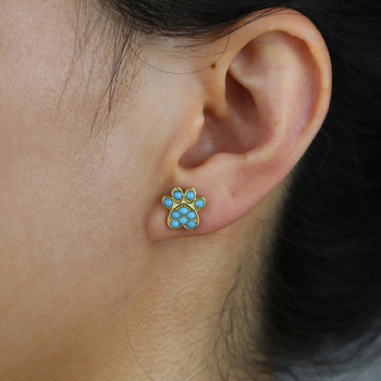 Dog Paw Earring 6