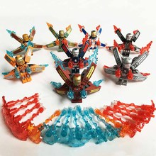 8pcs Super Heroes Figures Iron Man Model Building Blocks Figure Toys Gift B755 недорого