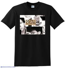 *NEW* SIMPLE MINDS T SHIRT once upon a time vinyl cd cover SIZE:S-3XL Printing TOP TEE PLUS SIZE simple minds london