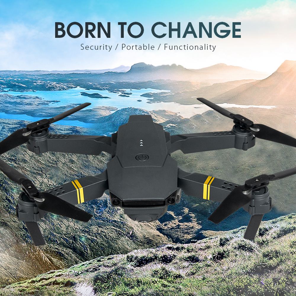 1PCS New E58 Folding Drone with 4K Camera HD Aerial Photography Four-axis Aircraft Remote Control Drone Helicopter Kid s Toys
