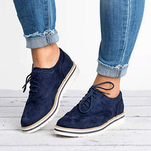 Women Oxfords Cut-Outs Lace Up Brogue Shoes Flat Platform England Ladies Non-slip Shoes Breathable Female Low Footwear(China)
