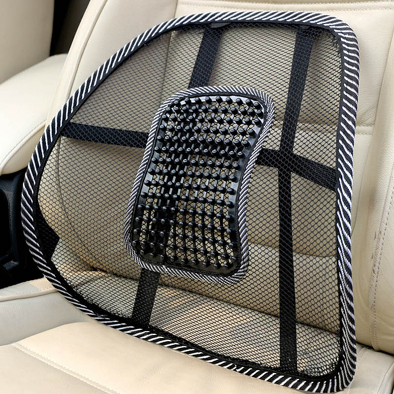 Massage-Cushion Seat-Chair Lumbar-Brace Back-Support Truck Office Car Mesh-Relief Home