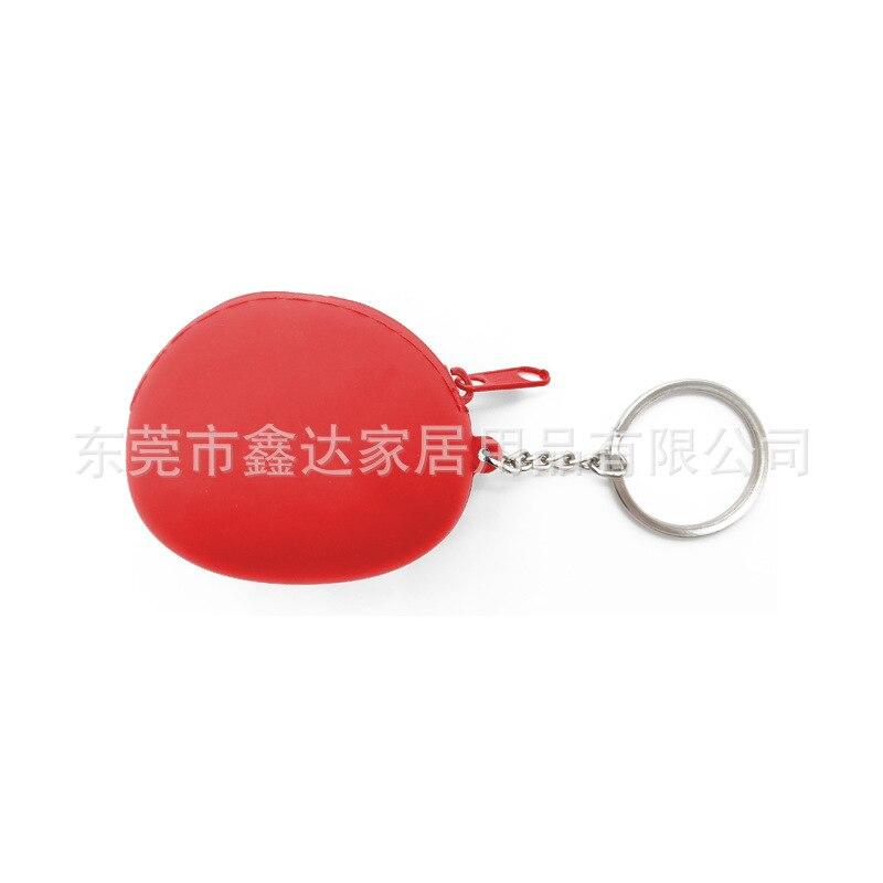 Mini Zipper Bag Women's Coin Change Storage Silica Gel Advertisement Gift Keychain Purse