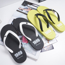 2021 Summer New Tide Flip Flops Men Antiskid Beach Shoes Fashion Casual Slippers