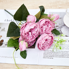 Silk Artificial Rose Flowers Party Home Decor Wedding Decoration Accessories Mini Fake Flower Gift heart shaped wedding ring pillow artificial rose flowers crystal fake pearls decor ring holder d1 decor