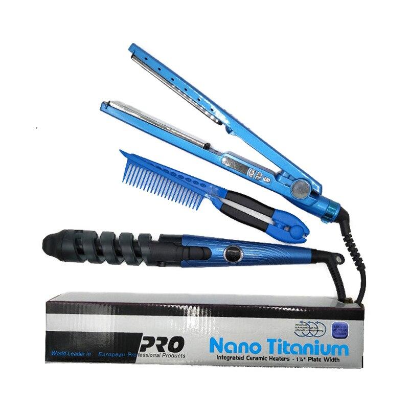 Hair Curler Professional Hair Iron Hair Flat Iron 11/4 Nano Titanium 450F Temperature Fast Hair Straightener