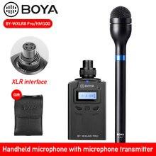 Boya BY-HM100 handheld microfone liga de alumínio corpo omni direcional dinâmico xlr mic saída para eng efp entrevista apresentação