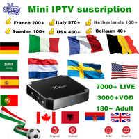 x96 mini IPTV subscription france Netherlands belgium Arabic USA Italia Germany spain IPTV poland m3u 4k 7000+live adult tv box